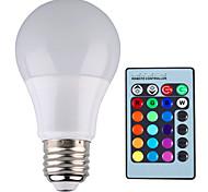 1 Stück 无 Dimmbar / Ferngesteuert / Dekorativ Kugelbirnen B E26/E27 5 W 500 LM 2800-6500 K 1 High Power LED RGB AC 85-265 V