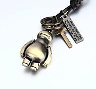 vilam® personnage de dessin animé de film réglable PU collier pendentif hommes en cuir
