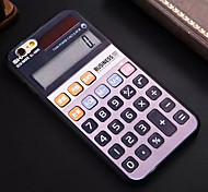 Calculator Pattern TPU and PC Material Combo Phone Case for iPhone 6/6S