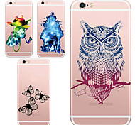 MAYCARI® The Party of Animals Transparent TPU Back Case for iPhone 6/iphone 6S(Assorted Color)