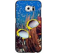 o caso duro padrão pc mundo submarino para Samsung Galaxy S6