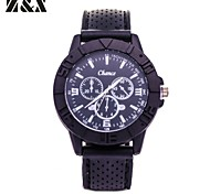 Men's Fashion Quartz Analog Silicon Sport  Bracelet Watch