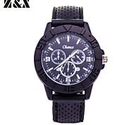 Herrenmode-Quarz-analoge Silizium Sport Armbanduhr