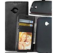 High Quality PU leather Wallet Mobile Phone Holster Case For Motorola E (2nd Gen)(Assorted Color)