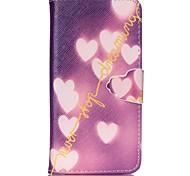 coeur peint pu étui de téléphone pour iPhone6 / 6s