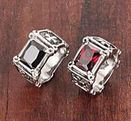 Кольца Камни по месяцу рождения Свадьба / Для вечеринок / Повседневные / Спорт Бижутерия Титановая сталь Мужчины Классические кольца 1шт,