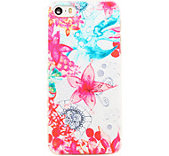 Rose Holding on Hand Pattern Transparent PC Back Cover for iPhone 5/5S