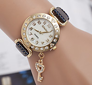 L.WEST Fashion High-end Diamonds Heart-shape Key Pendant Quartz Watch Cool Watches Unique Watches