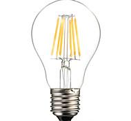 hry® a60 6w e27 600lm 360 grados cálida luz de filamento / frío color blanco edison llevó la lámpara de filamento (ac85-265v)