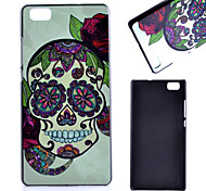 Back Cover IMD Skull PC Hard Case Cover For Huawei Huawei P8 Lite