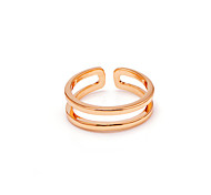 Women's Fashion Rose Gold Plated adjustable Ring