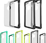 For iPhone 6 Case / iPhone 6 Plus Case Shockproof / Transparent Case Back Cover Case Solid Color Hard PCiPhone 6s Plus/6 Plus / iPhone