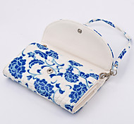 PU Wallet Lady Handbag Blue and White Porcelain for Samsung S6 Edge Plus/S6 Edge/S6/S5/S4/S3/S2/S/S5mini/S4mini/S3mini