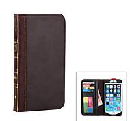"""style de livre 5.5 """"de protection étui en cuir PU pour iPhone 6 plus - brun"""