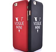 v modello di superficie liscia pc caso duro della copertura posteriore per il iphone 6 / 6s (colori assortiti)
