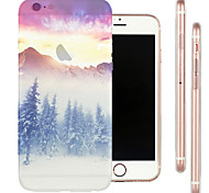 Perfect Close Limit Snow Top TPU Material Soft Phone Case for iPhone 6 Plus/6S Plus