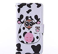 Bowknot Pattern PU Leather Full Body Case with Stand for Nokia N640
