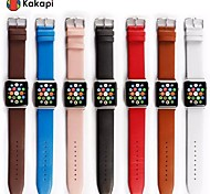 Women And Men Single Button With Connector Leather Case Watchband Fashion for Kakapi Apple Watch38/42mm Assorted Colors