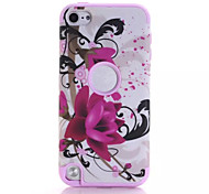 Lotus patterns High Quality Snap-on PC + Silicone Hybrid Combo Armor Case Cover for iPod touch 5(Assorted Color)