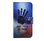 palm van je hand patroon pu lederen tas met standaard voor de Samsung Galaxy S3 mini i8190 / S4 mini i9190 / S5 mini