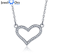 "New Accessories 925 Sterling Silver ""LOVE"" Women  Cubic Zirconia Necklaces & Pendants"