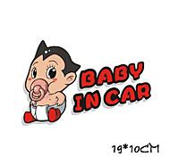 divertido bebé advertencia astroboy en etiqueta engomada del coche del coche ventana del coche estilo pared coche calcomanía