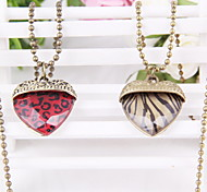 Pop Sexy Leopard Print Love Vintage Necklace Pendant