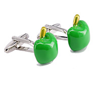 Green Apple Modelling Men Cufflinks