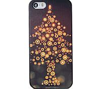 Navidad estilo árbol luz modelo pc contraportada dura para el iphone 5 / 5s