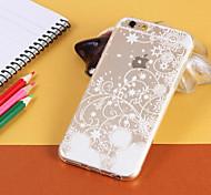 material flocon TPU téléphone portable pour iphone 6 / 6s