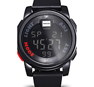 SHHORS Stopwatch Silicone Band Chronograph Digital LED Watch Men Fashion Casual Outdoor Sports Watches Boys Cool Watch Unique Watch