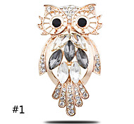 High-grade Thick Plated With Gold Owl Brooch