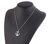 Anchor Pendant Multilayer Necklace