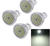 7W GU10 LED Spot Lampen A50 48 SMD 2835 600 lm Kühles Weiß Dekorativ AC 100-240 V 4 Stück