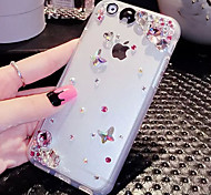 LADY®Elegant Phone Case/Cover for iphone 6/6s(4.7) and Decorated with Diamond, Silicone Material, More Colors Available