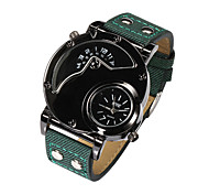 Watches Men Large Dial Watch Dual Movement Waterproof Wrist Watch Relogio Masculino Quartz Watch (Assorted Colors)