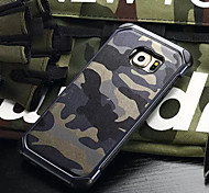 Fashion Two Anti-camouflage PC and TPU Phone Case for Galaxy S5/S6/S6 edge/S6 edge+