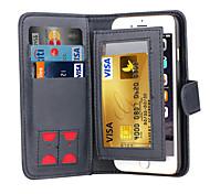 de ji Magnet 2 in 1 Luxus-Leder-Mappenkasten Klappdeckel + Cash-Slot + Fotorahmen Telefonkasten für iphone 6 plus / 6s Plus