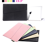 "Fashion Waterproof PU Leather Notebook Laptop Sleeve Bag & Case for Apple Macbook Air Pro 13.3"" No-Zipper Computer Bag"