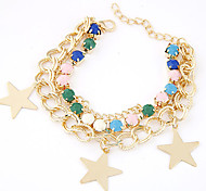 Fashion Wild Lucky Star Pendant Multilayer Bracelet