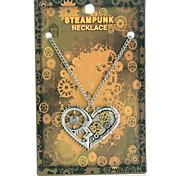 Vintage Steampunk Heart Pendant Necklace