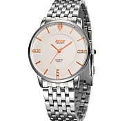 Men's Japanese Quartz Silver Steel Band Water Resistant Dress Watch Jewelry Cool Watch Unique Watch