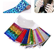 10packs/lot Nail Art Foil 50designs DIY Beauty Salon Nail Craft Nail Accessories Decoration Tools