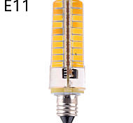 Dimmable E14 / E17 / G8 / E12 / E11 / BA15D 12 W 80 SMD 5730 1200 LM Warm White / Cool White LED Corn Bulbs AC 110-130 V
