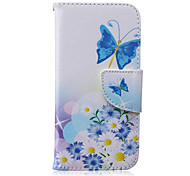 Butterfly Pattern PU Leather Material Flip Card Phone Case for iPhone 6/6S