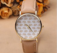 Fashion casual personality cartoon elephant pattern design watches