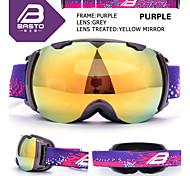BASTO Black TPU Frame Silver Sensor Skiing Snow Goggles
