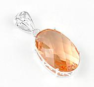 moda in avanti ovale morganite gemma pendenti della stella di 925 a cinque punte per collane per le nozze quotidiano 1pc vacanza