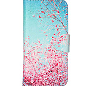 Maple Pattern PU Leather Phone Case For iPhone 5C