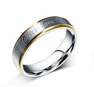 Z&X® Fashion Personality Love Titanium Steel Ring Band Rings Party / Daily / Casual 1pc